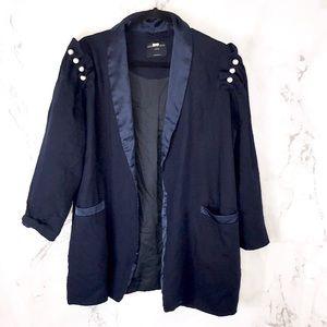 Mother of pearl wool blazer navy jacket D21